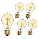 preiswerte Glühlampen-5 Stück 40 W E26 / E27 A60(A19) Warmes Weiß 2200-2300 k Retro / Abblendbar / Dekorativ Glühbirne Vintage Edison Glühbirne 220-240 V