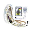 preiswerte Glühlampen-zdm 16.4ft / 5m 2835 smd 600leds super helles led-streifenlicht zweifarbig dual weiß flexibel warm kalt 2800k-7000k dc12v mit ir 24-schlüsselcontroller 3a * 2ch