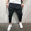 hesapli Erkek Sneakerları-Erkek Abartılı Günlük Eşoğman Altı Pantolon - Solid Siyah M L XL