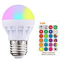 cheap LED Globe Bulbs-1pc 3W 200-250LM RGBW E27 Led Bulb LED RGB LED Light Bulb with IR Remote Control Pop Lamp Color Changing 16 colors changing LED Bulbs Tubes AC85-265V
