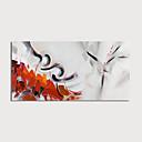 זול ציורי חיות-ציור שמן צבוע-Hang מצויר ביד - מופשט מודרני כלול מסגרת פנימית / בד מתוח