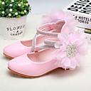 abordables Chaussures pour Fille-Fille Chaussures Polyuréthane Printemps / Automne Chaussures de Demoiselle d'Honneur Fille / De minuscules talons pour les ados Chaussures à Talons Fleur pour Enfants Blanc / Rose / Mariage