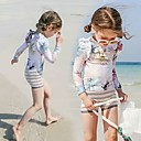halpa Märkäpuvut, sukelluspuvut ja suoja-asut-JIAAO Tyttöjen Rashguard-uimapuku Uima-asut Pidä lämpimänä Pitkähihainen 3-osainen - Uinti Yhtenäinen Syksy Kesä / Erittäin elastinen / Lasten