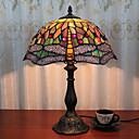 billige Bordlamper-12 tommers skrivebord lys kunstnerisk / rose blomst tiffany ambient lamper dekorative nydelig bordlampe for innendørs soverom harpiks 110-120v 220-240v 40w * 1 pære ikke inkludert