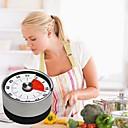 halpa Vihannes- ja hedelmävälineet-keittiö ajastin magneetti pyöreä muoto ruostumatonta terästä mekaaninen keittokello