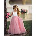 povoljno Movie & TV Theme Costumes-Djeca Djevojčice Osnovni Dusty Rose Jednobojni Bez rukávů Maxi Haljina Svjetloplav