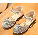 halpa Lasten sandaalit-Tyttöjen Synteettinen Tasapohjakengät Taapero (9m-4ys) / Pikkulapset (4-7 vuotta) Comfort / Kengät kukkaistytölle Kulta / Hopea / Pinkki Kevät