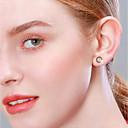 halpa Muotikorvakorut-Naisten High End Crystal Niittikorvakorut Yksinkertainen Makea Small S925 Sterling Hopea korvakorut Korut Ruusukulta Käyttötarkoitus Syntymäpäivä Lahja Päivittäin mielitietty 1 Pair