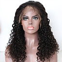 cheap Human Hair Wigs-Remy Human Hair Lace Front Wig Free Part Kardashian style Brazilian Hair Curly Deep Curly Wig 130% Density Natural Hairline With Bleached Knots Women's Long Human Hair Lace Wig beikashang