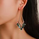 preiswerte Ohrringe-Damen Kubikzirkonia Tropfen-Ohrringe Ohrringe baumeln Geometrisch Europäisch Modisch Ethnisch Modern Ohrringe Schmuck Gold Für Party Strasse Festtage Arbeit Festival 1 Paar
