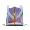 halpa Tote-laukut-Naisten Ketjuilla Yliolanlaukku Vedenkestävä PVC Yhtenäinen väri Valkoinen / Musta / Punastuvan vaaleanpunainen
