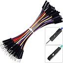 billige Koblinger & Terminaler-breadboard jumper ledninger mand til kvinde 24awg 10 farver 100-pack (10cm 1p m / f)