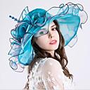 abordables Chapeau & coiffure-Organza Coiffure avec Fleur / Volants 1 Pièce Mariage / Sport & Loisir Casque
