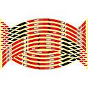 povoljno Ukrasi i zaštita automobila-16pcs novi 17/18/19 inčni moto reflektirajuća kotača glavica naljepnice auto dekori kotača naljepnice na styling automobila \ t