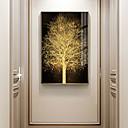 povoljno Apstraktno slikarstvo-zlatno stablo botanički otisci luksuzni stil uramljena zid umjetnosti
