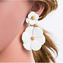 hesapli Göz Farları-Kadın's Çoklurenk Damla Küpeler Geometrik Çiçek Avrupa Küpeler Mücevher Bej / Beyaz Uyumluluk Günlük 1 çift
