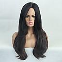 halpa Synteettiset peruukit-Naamiaistarvikkeet / Synteettiset peruukit Kinky Straight / Luonnollinen suora Tyyli Sivuosa Suojuksettomat Peruukki Ruskea Beige Synteettiset hiukset 24 inch Naisten Muodikas malli / synteettinen