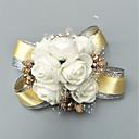 """זול פרחי חתונה-פרחי חתונה זר פרחים לפרק כף יד מסיבה / מסיבת החתונה תערובת פולי / כותנה / חרוזים 1.57""""(לערך.4ס""""מ)"""