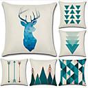 cheap Pillow Covers-6 pcs Cotton / Linen Pillow Cover, Geometric Geometic Simple Fashion Throw Pillow