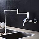 abordables Spray Amovible-robinetterie de cuisine - mur 2 trous chrome / chromé / laiton / monocommande 2 trous
