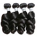 halpa Aitohiusperuukit-4 pakettia Brasilialainen Löysät aaltoilevat 100% Remy Hair Weave -paketit Hiukset kutoo Bundle Hair Yksi pakkaus ratkaisu 8-28inch Luonnollinen väri Hiukset kutoo Vesiputous Muodikas malli Pehmeä