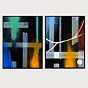 cheap Framed Arts-Framed Art Print Framed Canvas - Abstract Aquatic & Nautical Plastic Illustration Wall Art