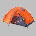halpa Zentai-Sheng yuan 2 henkilöä Perhe Camping Tent Ulko- Tuulenkestävä Sateen kestävä Hengitettävyys Kaksinkertainen Pole teltta 2000-3000 mm varten Telttailu / Retkely / Luolailu Oxford-kangas 330*135*110 cm