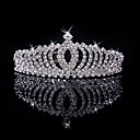 cheap Party Headpieces-Women's Girls' Elegant & Luxurious Wedding Bridal Crystal / Rhinestone Silver Plated Alloy Tiaras Hair Jewelry