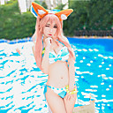 halpa Anime-asut-Innoittamana Kohtalo / suuruusjärjestys Tamamo no Mae Anime Cosplay-asut Uima-asut / Bikini Patchwork Hihaton Rintaliivit / Shortsit / Tail Käyttötarkoitus Naisten