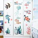 halpa Seinätarrat-sarjakuva vedenalainen maailma tarrat lasten huone makuuhuone seinä sisustus lastentarha meren seinä tarroja pienet kalat ins tarroja