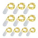 halpa LED-hehkulamput-10 pacote 1 m led luzes da corda 10 led micro luzes em fio de cobre de prata para diy peça central da festa de casamento decoração de mesa