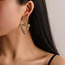 olcso Divat fülbevalók-Női Mértani Függők Fülbevaló Egyszerű Európai divatba jövő Divat Modern Ékszerek Arany / Ezüst / Vörös arany Kompatibilitás Napi Utca Munka Klub Fesztivál 1 pár