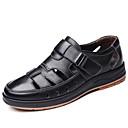 povoljno Muške sandale-Muškarci Udobne cipele Koža Proljeće ljeto Klasik / Ležerne prilike Sandale Non-klizanje Crn / Braon