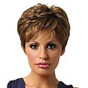 halpa Synteettiset peruukit ilmanmyssyä-Synteettiset peruukit / Otsatukat Kihara Tyyli Vapaa osa Suojuksettomat Peruukki Kulta Musta ja kulta Synteettiset hiukset 12 inch Naisten Muodikas malli / Naisten / synteettinen Kulta Peruukki Lyhyt