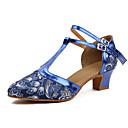 olcso Modern cipők-Női Modern cipők Műbőr Magassarkúk Vastag sarok Személyre szabható Dance Shoes Ezüst / Kék
