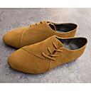 halpa Naisten oxford-kengät-Naisten Mokkanahka / Canvas 봄 & Syksy Oxford-kengät Tasapohja Keltainen / Vaalean harmaa / Punainen