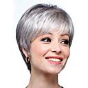 preiswerte Synthetische Perücken mit Spitze-Menschliches Haar Capless Perücken Echthaar Glatt / Natürlich gerade Pixie-Schnitt / Stufenhaarschnitt / Asymmetrischer Haarschnitt / Kurze Frisuren 2019 Stil Leben / Klassisch / Schlussverkauf