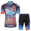 cheap Cycling Jersey & Shorts / Pants Sets-Malciklo Boys' Girls' Short Sleeve Cycling Jersey with Shorts - Black Animal Bike Breathable Sports Floral / Botanical Clothing Apparel / Stretchy