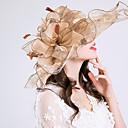levne Ozdoby do vlasů na večírek-Organza Doplňky do vlasů s Květiny / Volán Jeden díl Svatební / Sporty a outdoor Přílba