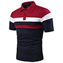 cheap Men's Sneakers-Men's EU / US Size Polo - Color Block Patchwork Shirt Collar Red L