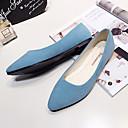 hesapli Kadın Babetleri-Kadın's Ayakkabı PU İlkbahar & Kış / İlkbahar yaz Düz Ayakkabılar Düz Taban Sivri Uçlu Günlük için Fuşya / Açık Pembe / Navy Mavi