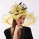 cheap Party Headpieces-Organza Headwear with Flower / Ruffle 1 Piece Wedding / Sports & Outdoor Headpiece