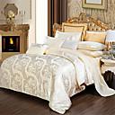 levne Luxusním povlaky Kryty-Povlečení Jednobarevné / Luxus Bavlna Žakár 4 kusyBedding Sets