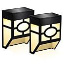 abordables Appliques pour l'Extérieur-2pcs 0.5 W Lampe murale solaire Solaire / Design nouveau Blanc Chaud / Blanc Froid 3.7 V Eclairage Extérieur / Cour / Jardin 2 Perles LED