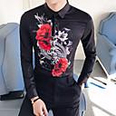 billige Herresekker-EU / USA størrelse Skjorte Herre - Geometrisk, Trykt mønster Hvit