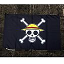 Недорогие Аксессуары для косплея-Больше аксессуаров Вдохновлен One Piece Monkey D. Luffy Аниме Косплэй аксессуары Флаг Ткань Костюмы на Хэллоуин