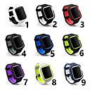 זול מנורות שולחן-צפו בנד ל Apple Watch Series 4/3/2/1 Apple אבזם קלאסי סיליקוןריצה רצועת יד לספורט