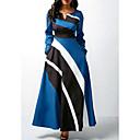 preiswerte Haarverlängerungen in natürlichen Farben-Damen Elegant A-Linie Kleid Einfarbig Maxi
