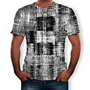 billige Projektorer-Herre - Farveblok / 3D / Grafisk Trykt mønster T-shirt