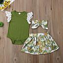 رخيصةأون مجموعات ملابس البيبي-مجموعة ملابس كم قصير ورد للفتيات طفل